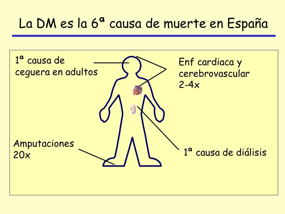 La DM es la 6ª causa de muerte en España