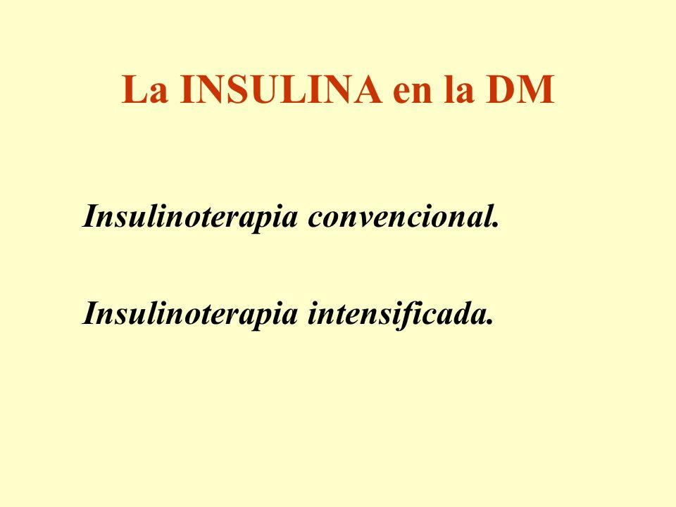La INSULINA en la DM Insulinoterapia intensificada.