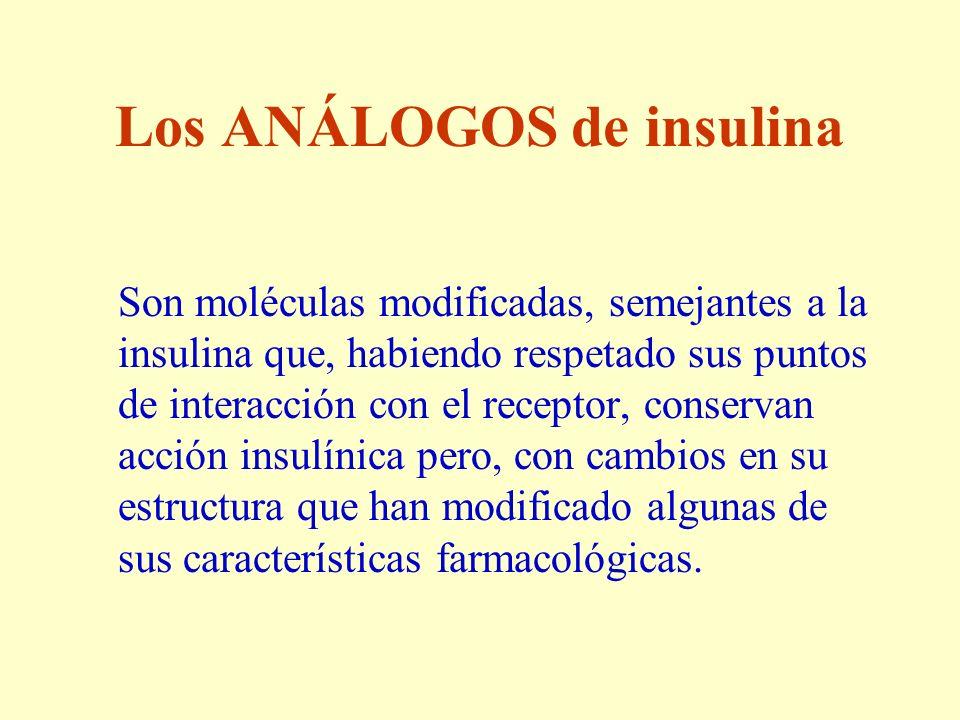 Los ANÁLOGOS de insulina