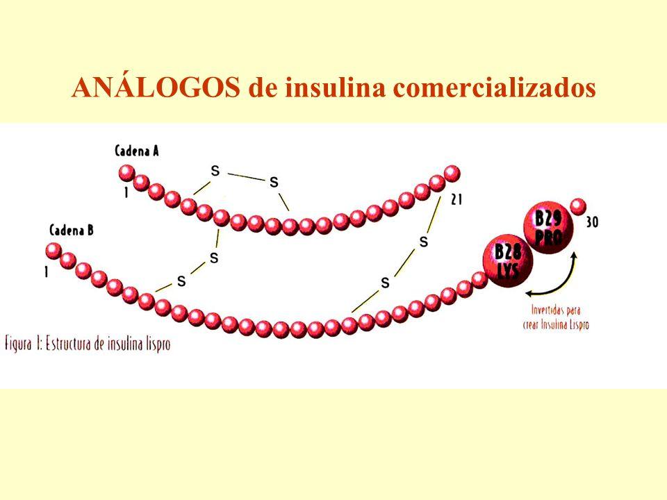 ANÁLOGOS de insulina comercializados
