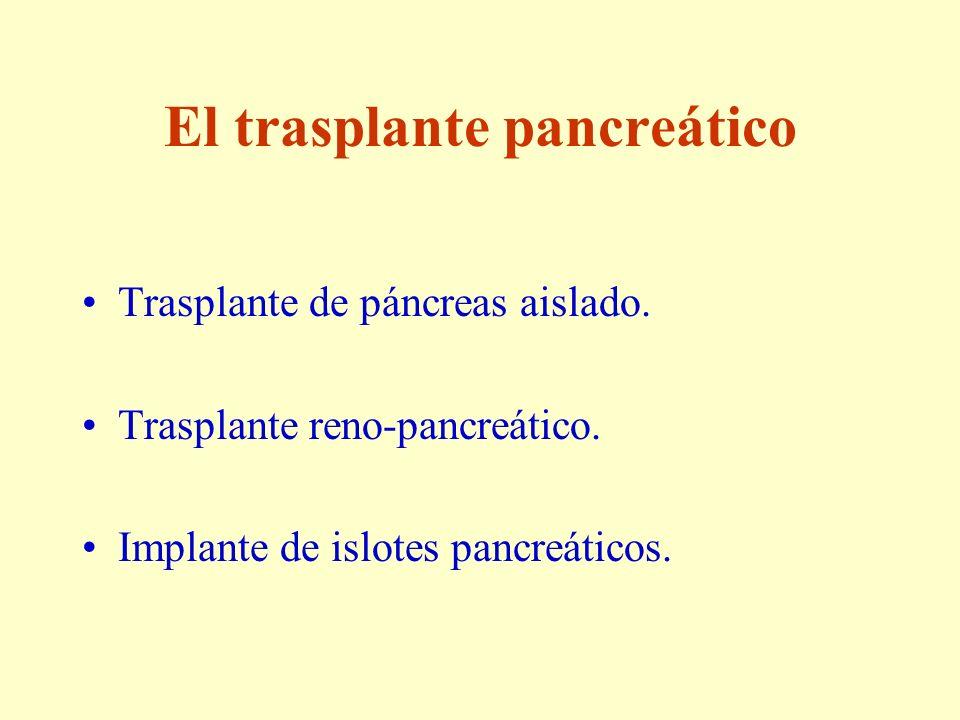 El trasplante pancreático