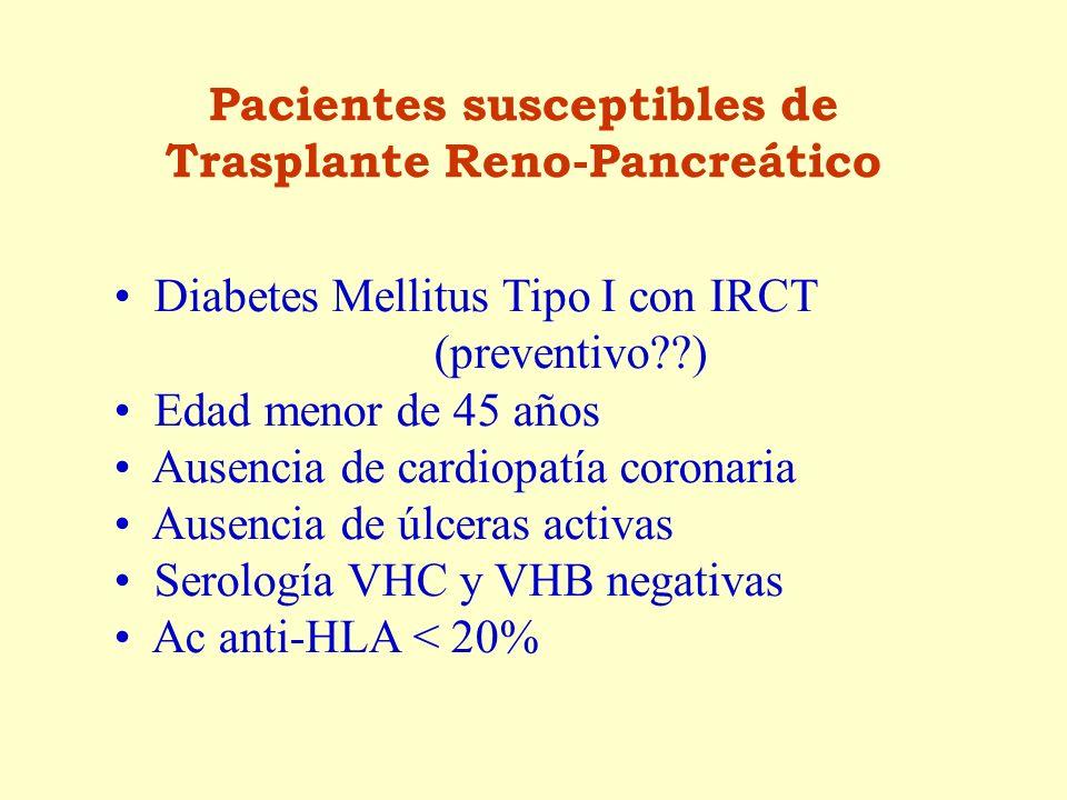 Pacientes susceptibles de Trasplante Reno-Pancreático