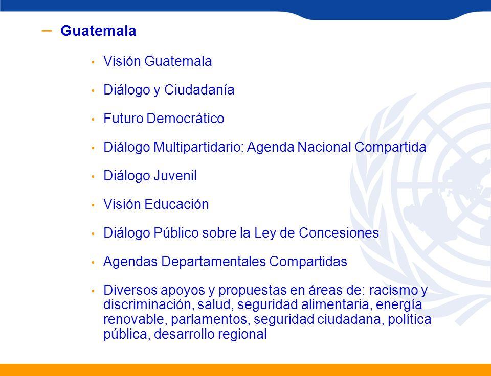 Guatemala Visión Guatemala Diálogo y Ciudadanía Futuro Democrático