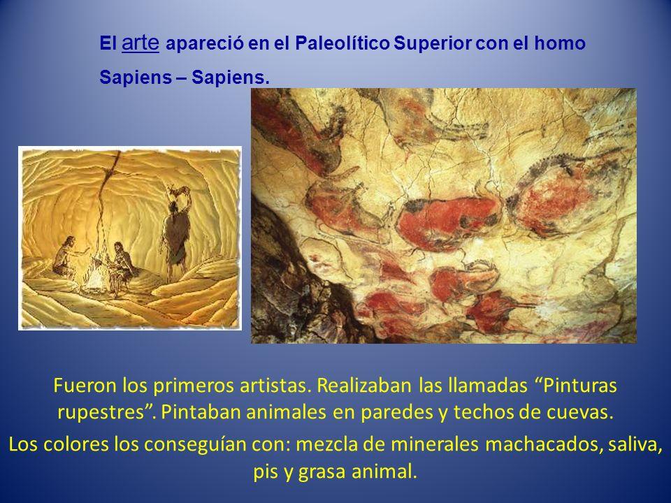El arte apareció en el Paleolítico Superior con el homo