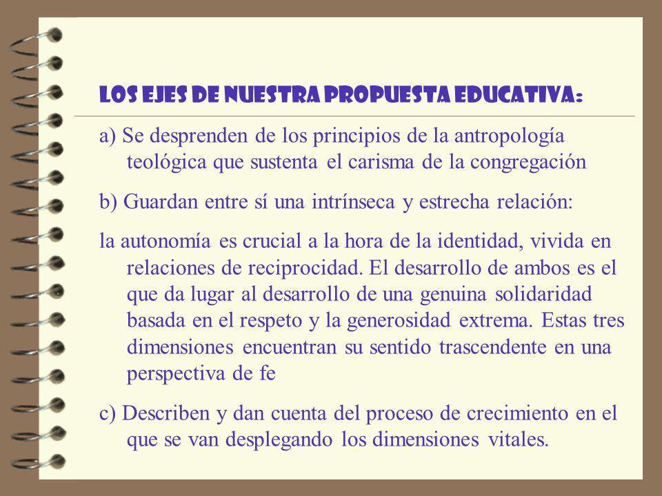 Los ejes de nuestra propuesta educativa: