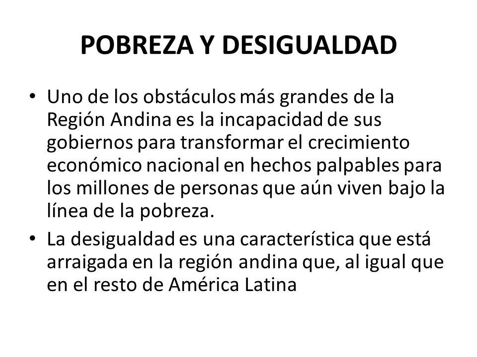 POBREZA Y DESIGUALDAD