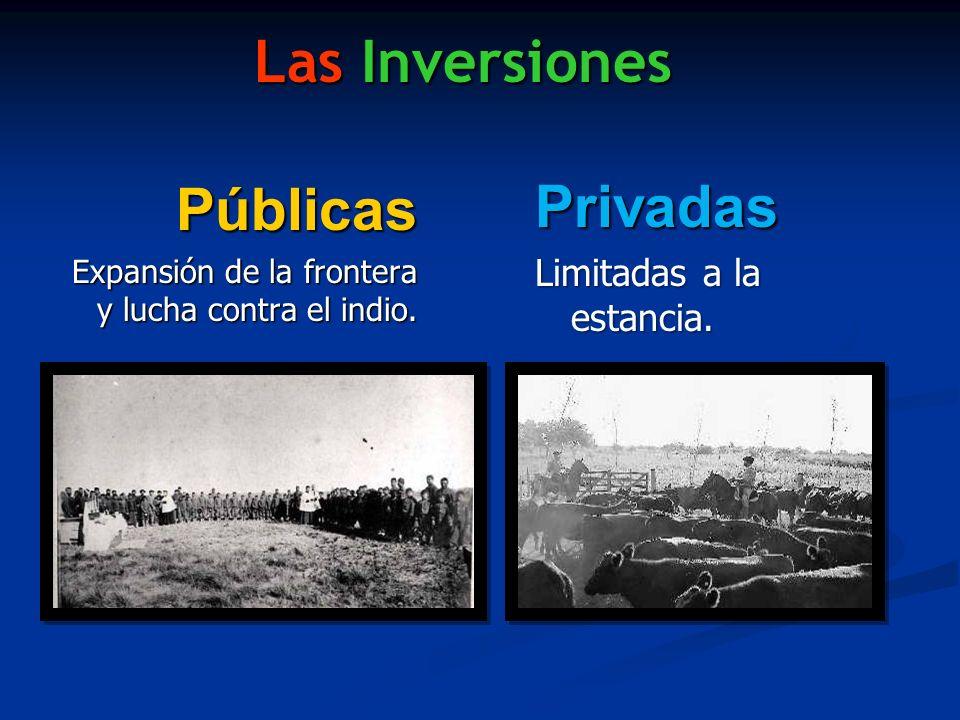 Las Inversiones Privadas Públicas Limitadas a la estancia.