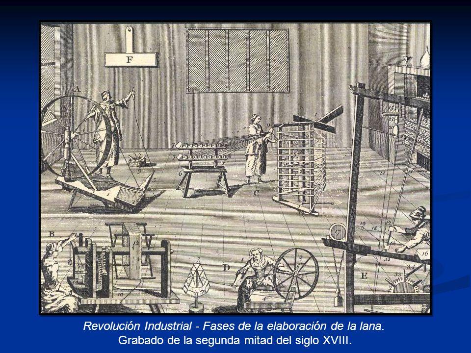 Revolución Industrial - Fases de la elaboración de la lana