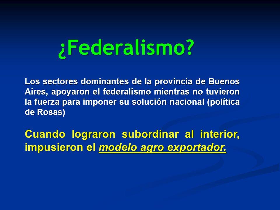 ¿Federalismo