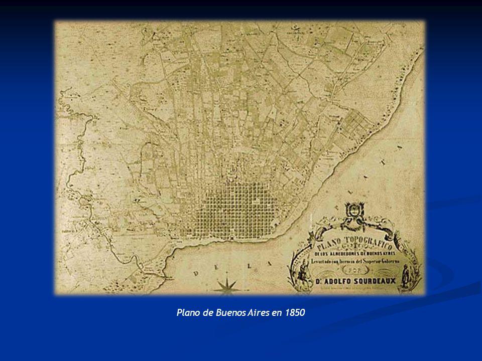 Plano de Buenos Aires en 1850