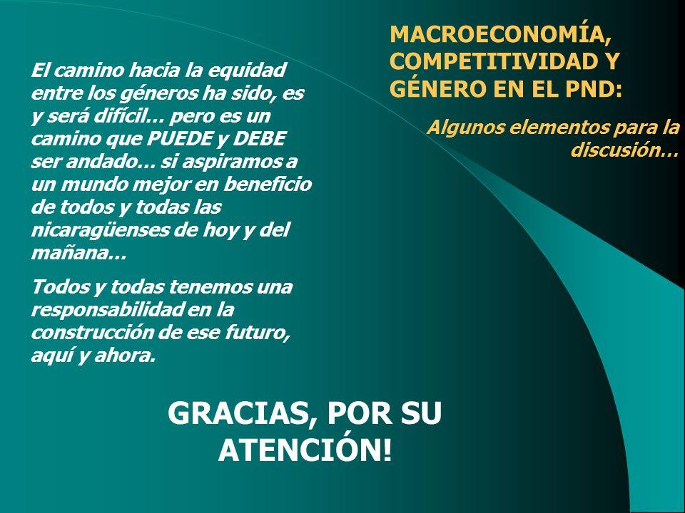 GRACIAS, POR SU ATENCIÓN!