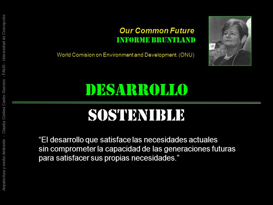 desarrollo Sostenible Our Common Future Informe Bruntland