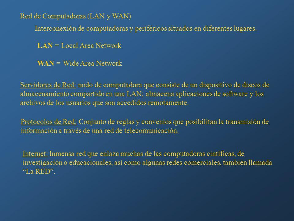 Red de Computadoras (LAN y WAN)