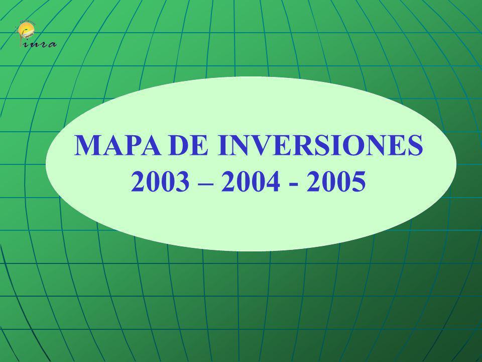 MAPA DE INVERSIONES 2003 – 2004 - 2005