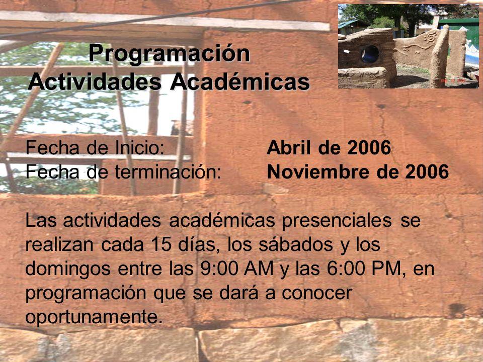 Programación Actividades Académicas