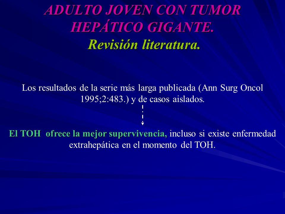 ADULTO JOVEN CON TUMOR HEPÁTICO GIGANTE. Revisión literatura.