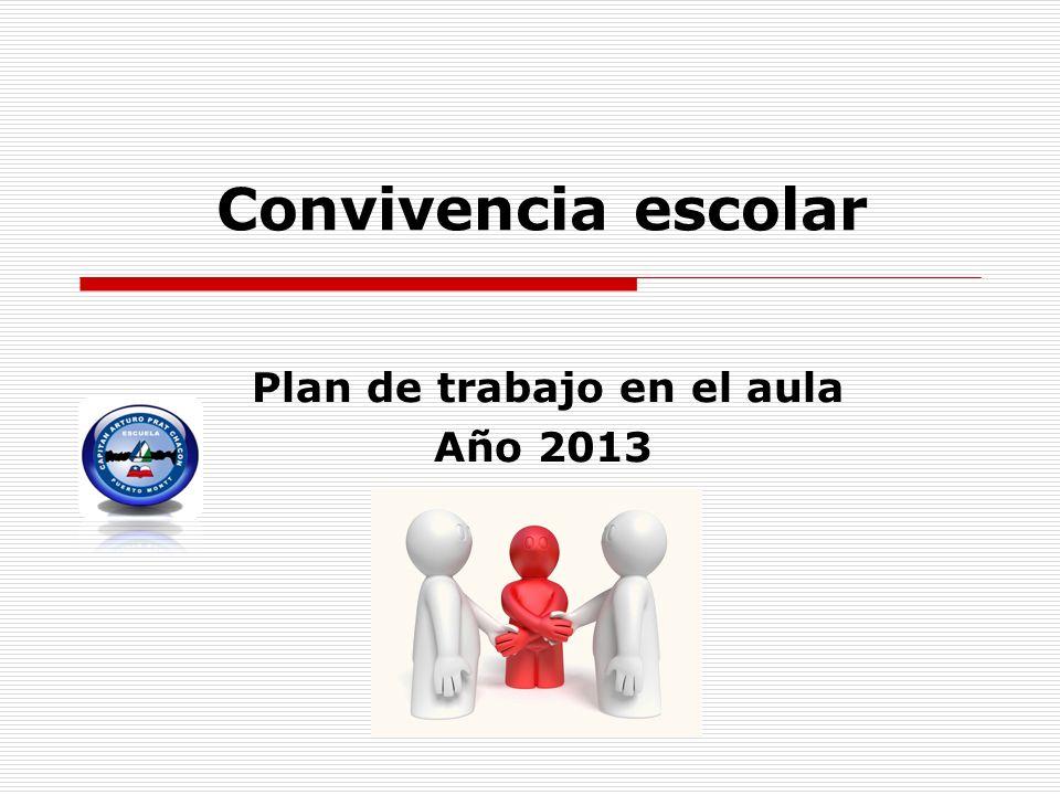 Plan de trabajo en el aula Año 2013