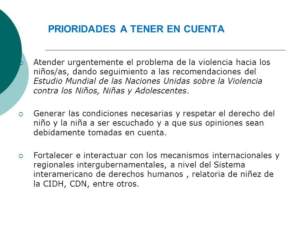 PRIORIDADES A TENER EN CUENTA