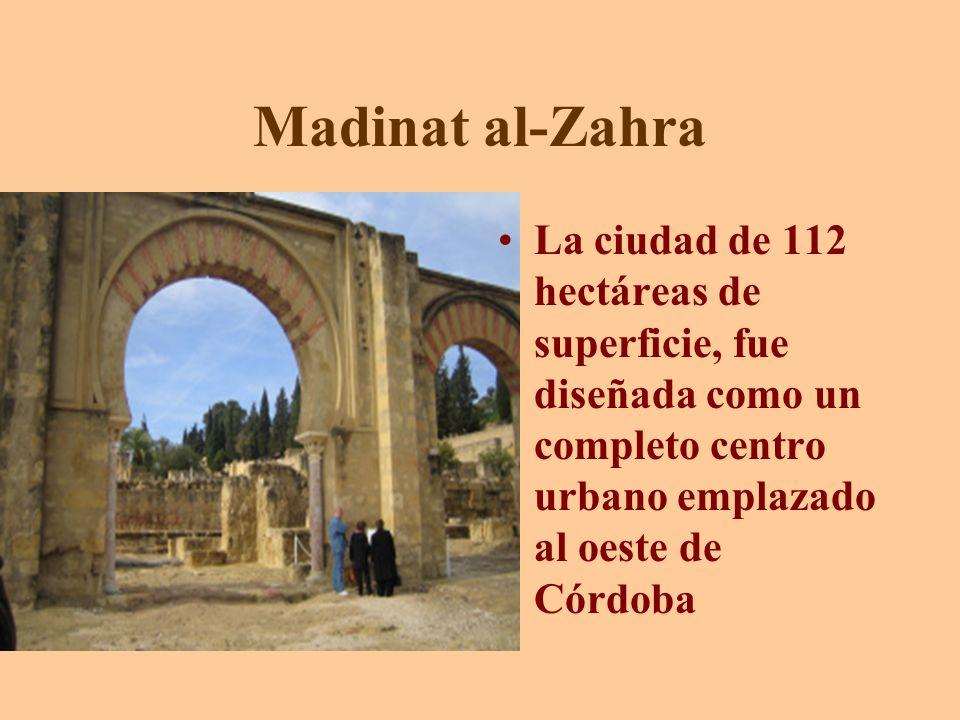 Madinat al-Zahra La ciudad de 112 hectáreas de superficie, fue diseñada como un completo centro urbano emplazado al oeste de Córdoba.