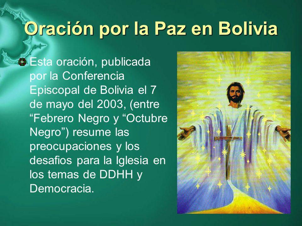 Oración por la Paz en Bolivia