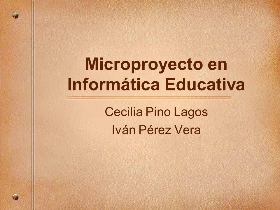 Microproyecto en Informática Educativa