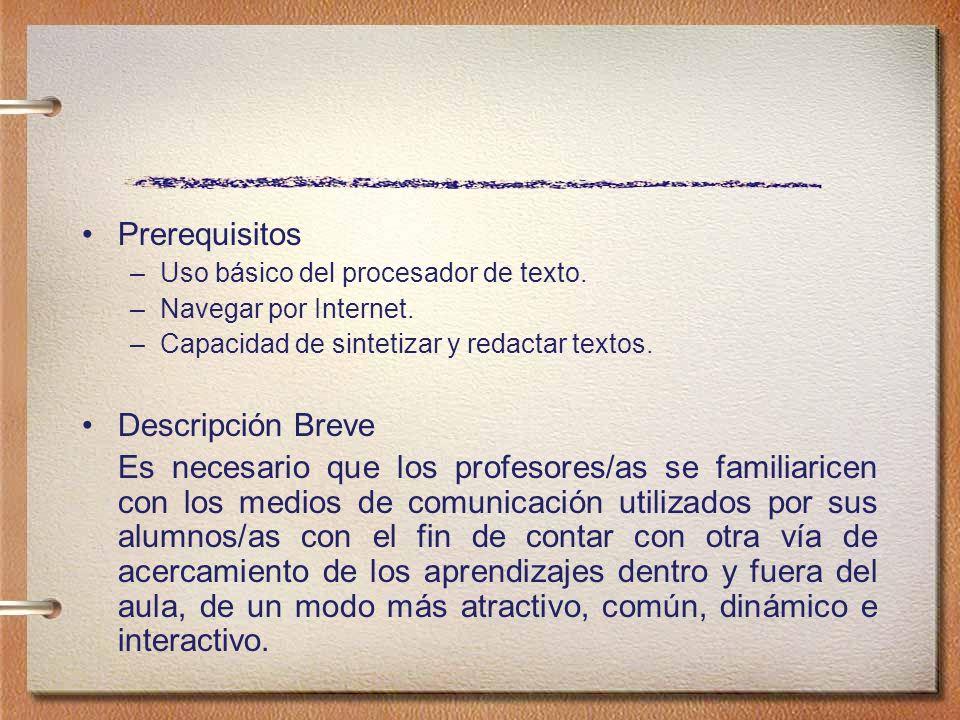 Prerequisitos Descripción Breve