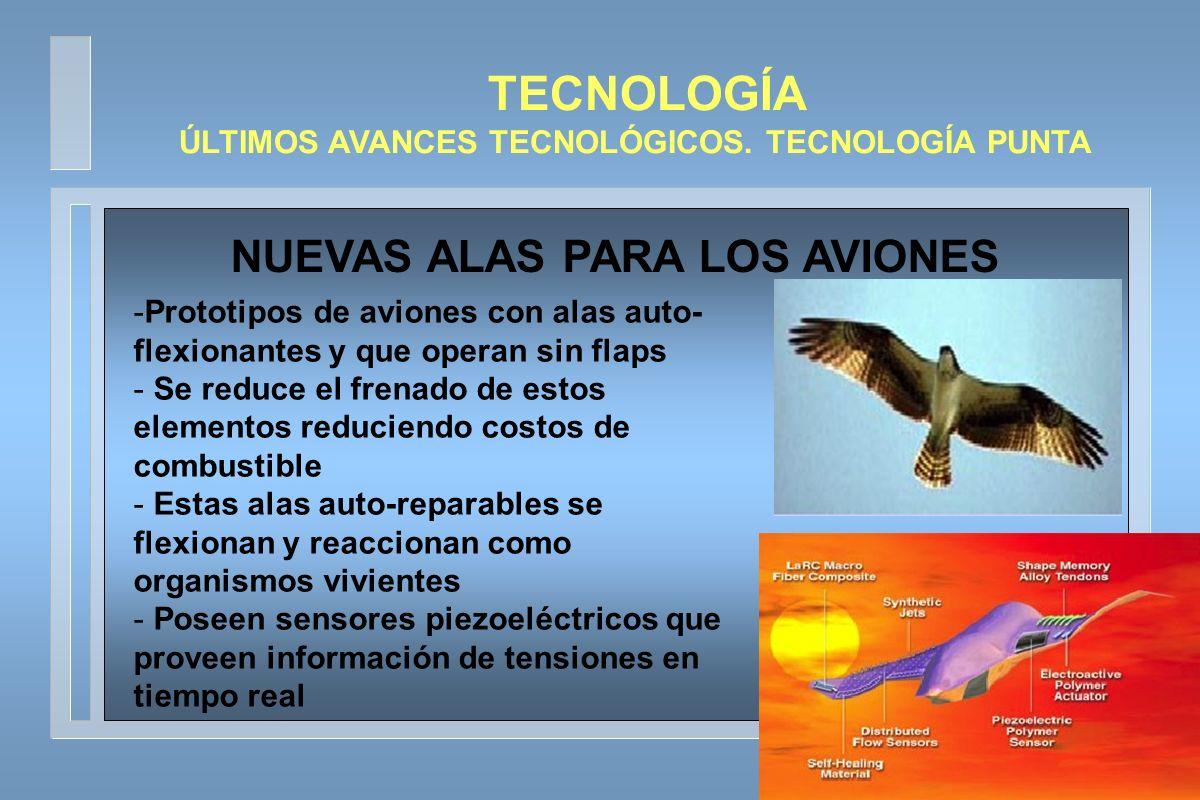 TECNOLOGÍA NUEVAS ALAS PARA LOS AVIONES