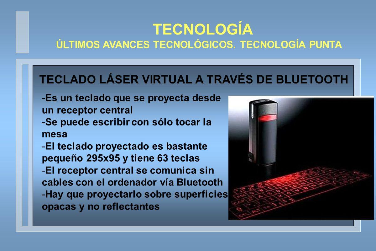 TECNOLOGÍA TECLADO LÁSER VIRTUAL A TRAVÉS DE BLUETOOTH