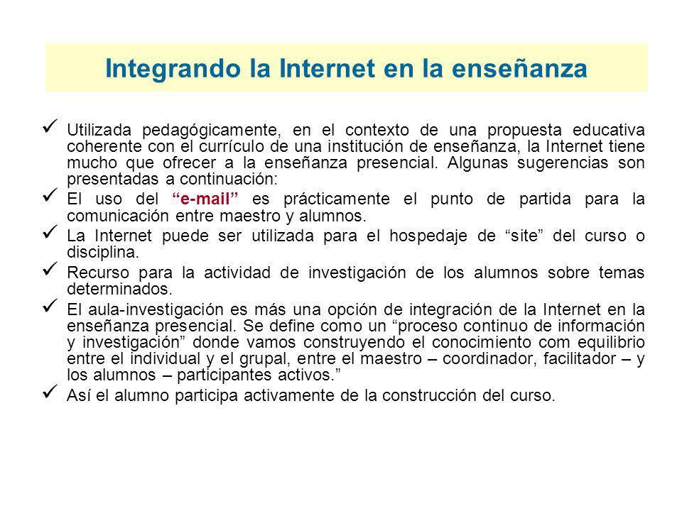 Integrando la Internet en la enseñanza