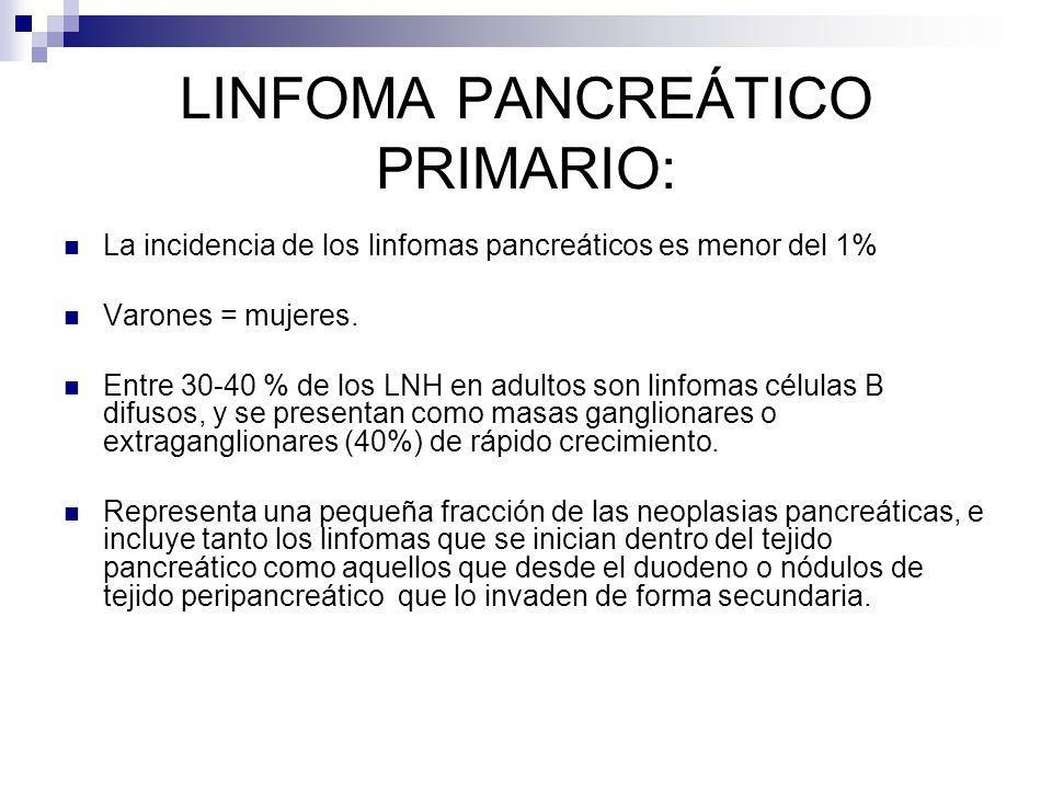 LINFOMA PANCREÁTICO PRIMARIO: