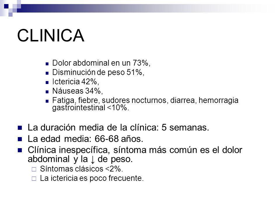 CLINICA La duración media de la clínica: 5 semanas.