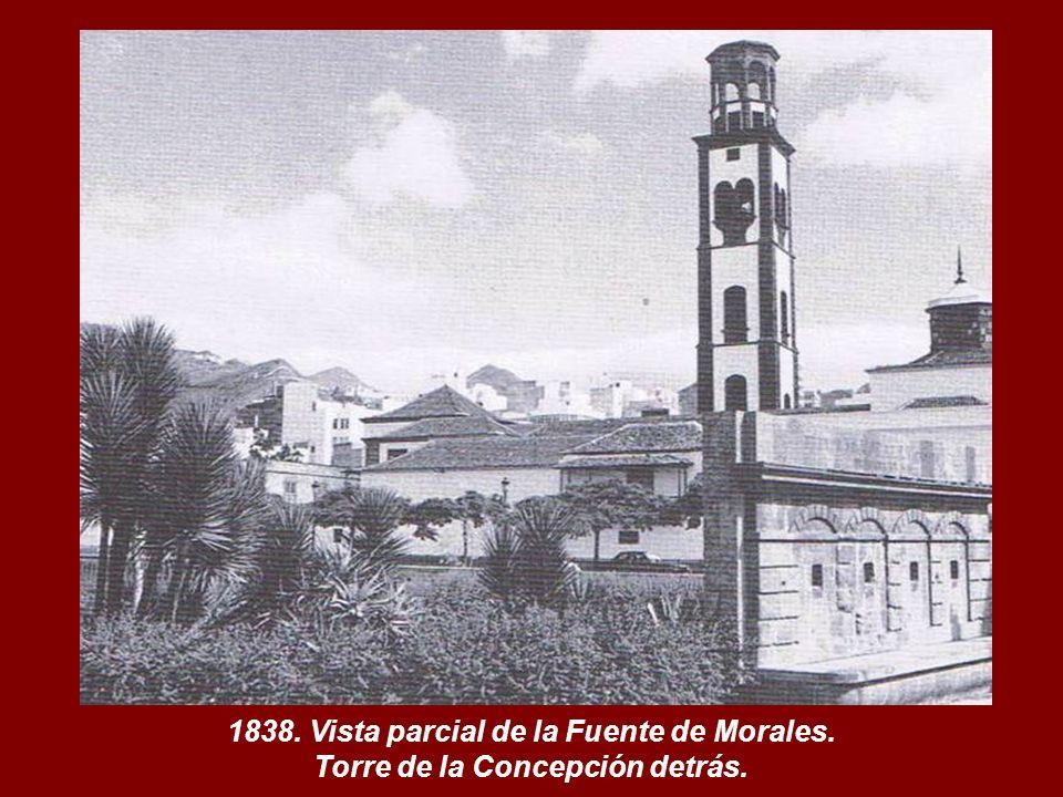 1838. Vista parcial de la Fuente de Morales.