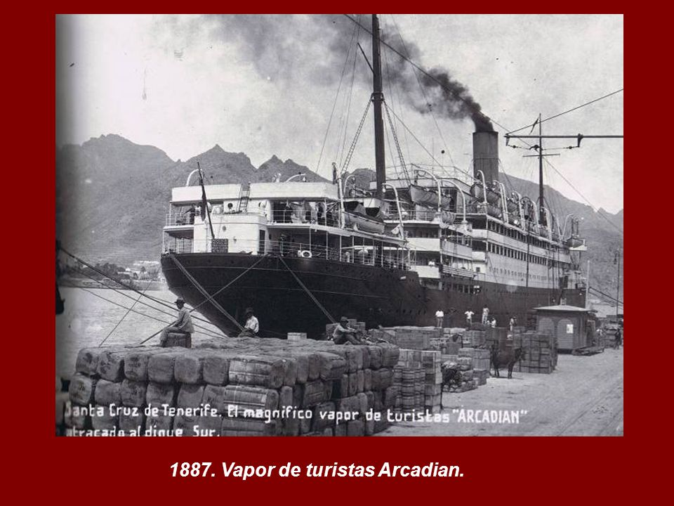 1887. Vapor de turistas Arcadian.