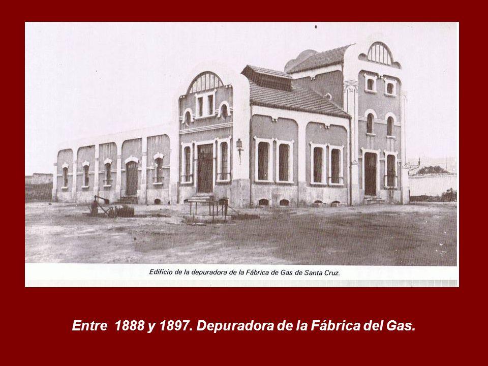 Entre 1888 y 1897. Depuradora de la Fábrica del Gas.
