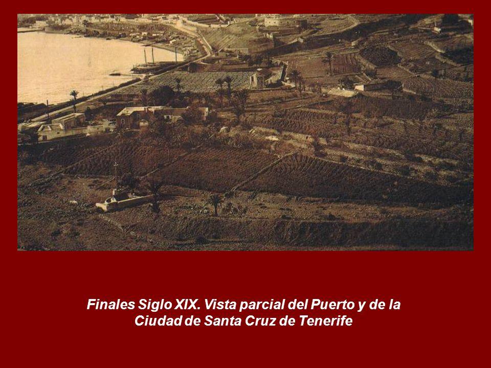 Finales Siglo XIX. Vista parcial del Puerto y de la