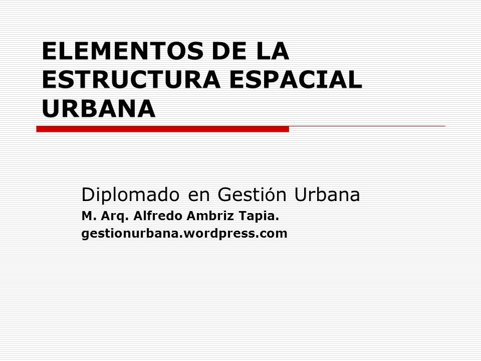 ELEMENTOS DE LA ESTRUCTURA ESPACIAL URBANA