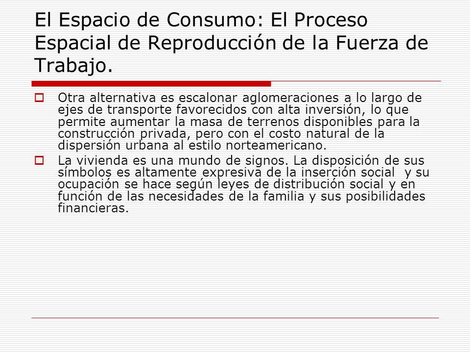 El Espacio de Consumo: El Proceso Espacial de Reproducción de la Fuerza de Trabajo.