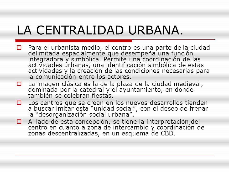 LA CENTRALIDAD URBANA.