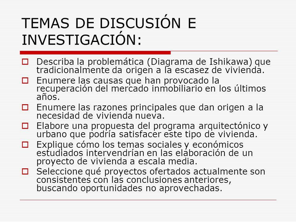 TEMAS DE DISCUSIÓN E INVESTIGACIÓN: