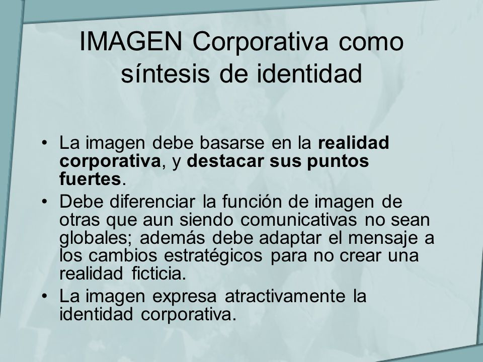 IMAGEN Corporativa como síntesis de identidad
