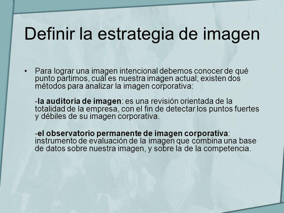 Definir la estrategia de imagen