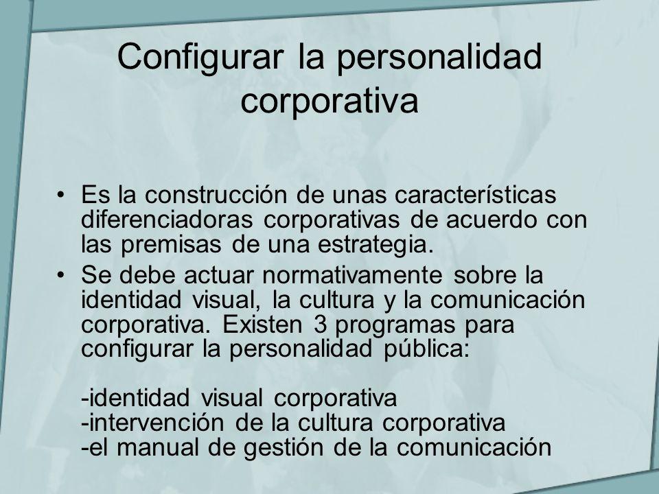 Configurar la personalidad corporativa