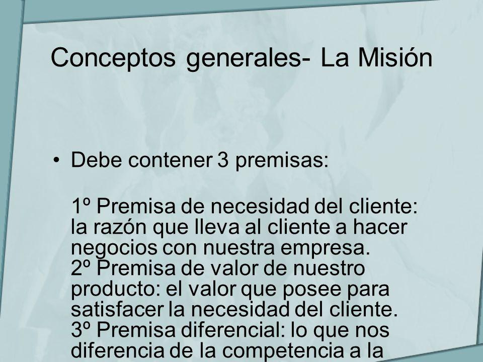 Conceptos generales- La Misión