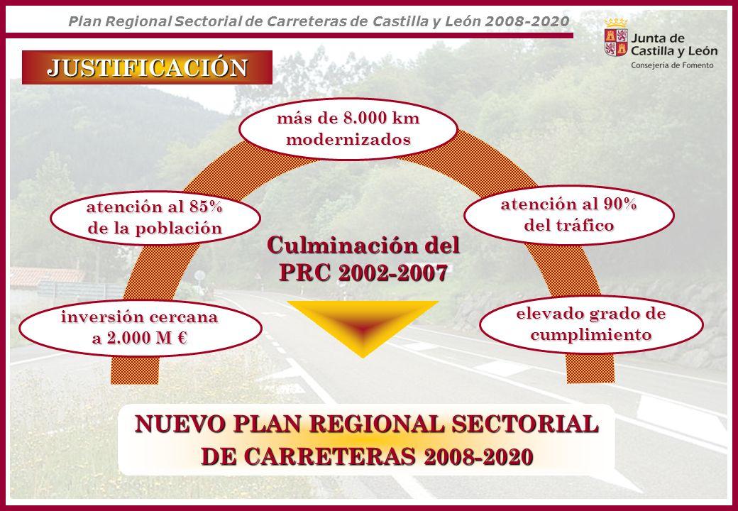 NUEVO PLAN REGIONAL SECTORIAL DE CARRETERAS 2008-2020