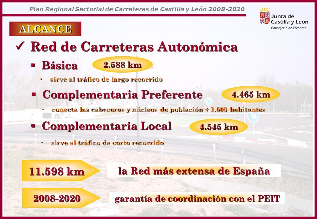 la Red más extensa de España garantía de coordinación con el PEIT