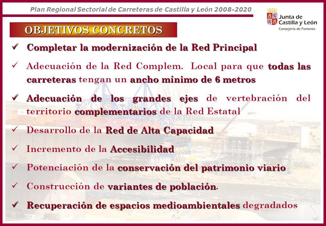 OBJETIVOS CONCRETOS Completar la modernización de la Red Principal