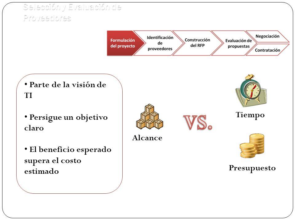 VS. Selección y Evaluación de Proveedores Parte de la visión de TI