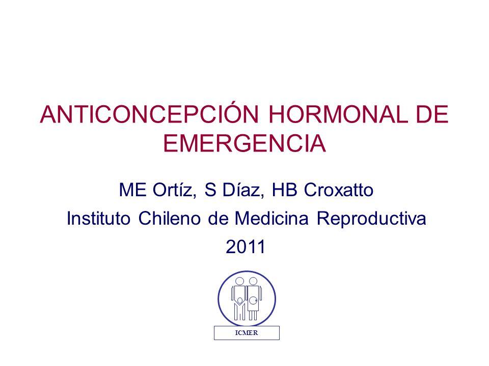 ANTICONCEPCIÓN HORMONAL DE EMERGENCIA