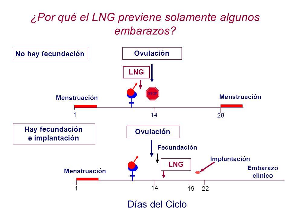 ¿Por qué el LNG previene solamente algunos embarazos