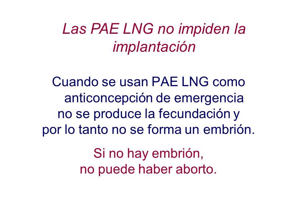 Las PAE LNG no impiden la implantación
